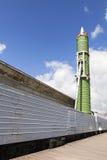 ST PETERSBURGO, RÚSSIA - 11 DE MAIO DE 2016: Foto do sistema de mísseis da estrada de ferro da batalha Fotografia de Stock