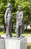 ST PETERSBURGO, RUSIA - 2 DE AGOSTO DE 2016: Foto de los niños del monumento de la guerra Foto de archivo libre de regalías