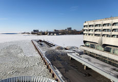 ST PETERSBURGO, RUSIA - 16 DE MARZO DE 2013: edificio de Marine Station Sea Port en puerto el 16 de marzo de 2013 en St Petersbur Fotos de archivo