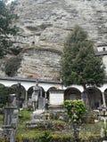 St- Peterskloster und -kirchhof in der Stadt von Salzburg, Österreich lizenzfreie stockfotografie