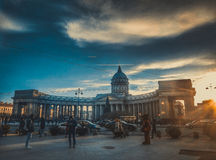 St. Petesburg. View of the Kazan Cathedral to the Nevsky Prospect Stock Photo