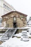 "St. Petka Samardzhiyska"" Church covered with snow Royalty Free Stock Photography"