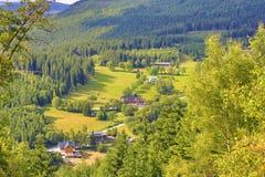 St Petr Valley, montagne giganti (Ceco: Krkonose), Riesengebirge, Ceco, Polannd fotografie stock