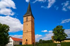 St Petri Kirche tower Nordhausen Harz Germany. St Petri Kirche church tower in Nordhausen at Harz Thuringia of Germany royalty free stock photos