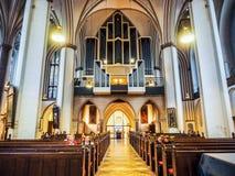 St Petri kościół w Hamburskim hdr Zdjęcia Stock
