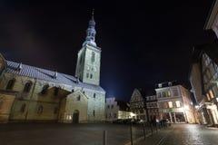 St Petri kościelny soest Germany w wieczór zdjęcia stock