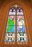 ST.Philip  and  ST. Bartholomew, Stained glass Stock Image