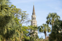 St Philips and Charleston skyline Royalty Free Stock Image