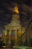 St. Phillips Episcopal Church is decorated for the Holidays Stock Images