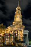 St. Phillips Episcopal Church at Night Royalty Free Stock Photography