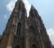 St Philomena Kerk, Mysore, Bangalore Stock Foto