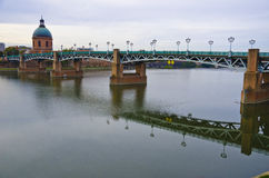 St Pierre bro, Toulouse Frankrike Fotografering för Bildbyråer