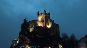 Saint-Pierre Castle at night Stock Image