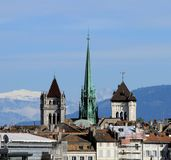 St. Pierre Cathedral in Genève, Zwitserland Royalty-vrije Stock Fotografie