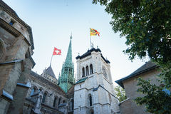 St. Pierre Cathedral in Geneva, Switzerland Royalty Free Stock Images