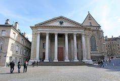 St. Pierre Cathedral, Genf, die Schweiz Lizenzfreies Stockfoto