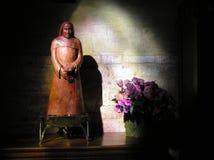 St Pierre du Montmatre Statue Flowers Royalty Free Stock Photos