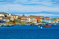 St-Pierre et Miquelon. Town of St-Pierre, St-Pierre et Miquelon, France, North America royalty free stock images