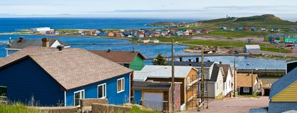 St-Pierre harbour. St-Pierre et Miquelon, France, North America royalty free stock image