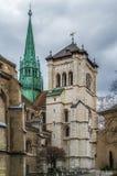 St Pierre katedra, Genewa, Swizerland zdjęcie royalty free