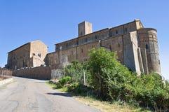 St. Pietro Basilica. Tuscania. Lazio. Italy. stock images