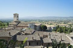St. Pietro Church. Assisi. Umbria. Royalty Free Stock Photography