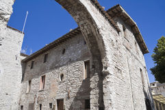 St. Pietro Gate. Gubbio. Umbria. Royalty Free Stock Photo