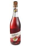 St PIETROBURGO, RUSSIA - 12 dicembre 2015: Bottiglia di Lambrusco Rosato Amabile, Valle Calda, Italia Fotografie Stock