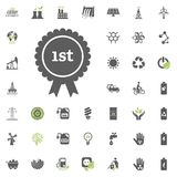 1st place icon. Eco and Alternative Energy vector icon set. Energy source electricity power resource set vector. 1st place icon. Eco and Alternative Energy Stock Photo