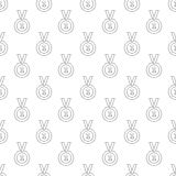 1st place medal pattern seamless. Black for any design Royalty Free Illustration