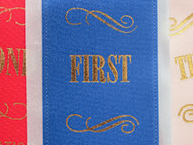 1st place ribbon Stock Images