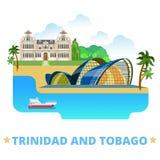 St plano de la historieta del diseño del país de Trinidad and Tobago ilustración del vector