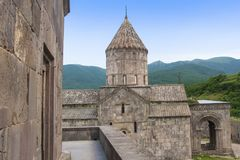 The St. Pogos-Petros Cathedral St. Paul and Peter`s Apostles is the largest building of the Tatev Monastery Complex. It was erected in 895 year. Armenian Stock Photography