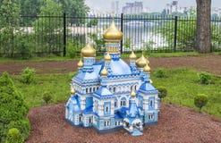 St Pokrovsky Klooster in Kiev De lay-out van de kerk Stock Foto