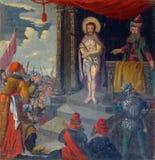 1st Posten van het Kruis Stock Afbeelding