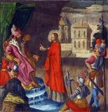 1st Posten van het Kruis Stock Afbeeldingen