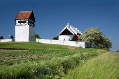 St. Povel Kirke on Bornholm Stock Images