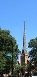 1st presbyterianska kyrkan Charlotte NC Arkivfoto