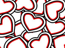 St Priorità bassa di giorno dei biglietti di S. Valentino fotografie stock libere da diritti