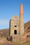 St proche BRITANNIQUE Agnes Beacon de l'Angleterre de mine de bidon des Cornouailles photo libre de droits