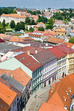 St. Procopius basilica and jewish town (UNESCO), Trebic, Vysocina, Czech republic, Europe Stock Photography