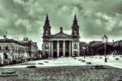 St Publius kościół katolicki HDR, Floriana Zdjęcie Royalty Free
