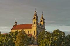 St Raphael de Aartsengelkerk in Vilnius Stock Afbeelding