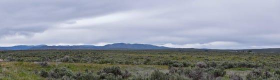 St?rmisches Panorama S?gezahn-Gebirgsnationales Forest Landscapes vom S?den vorangegangen zu Sun Valley, Ansicht des l?ndlichen W stockfotografie