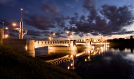 St. Rocha Bridge in Poznan Royalty Free Stock Images