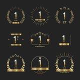 1st rocznicowa logo kolekcja Ilustracji