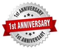 1st rocznicowa odznaka Obraz Stock