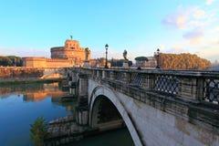 st rome замока ангела стоковые фотографии rf