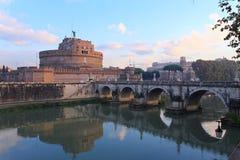 st rome замока ангела стоковые изображения rf