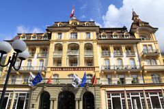St royal d'hôtel Georges Interlaken MGallery par Sofitel dans une perfection Photo stock